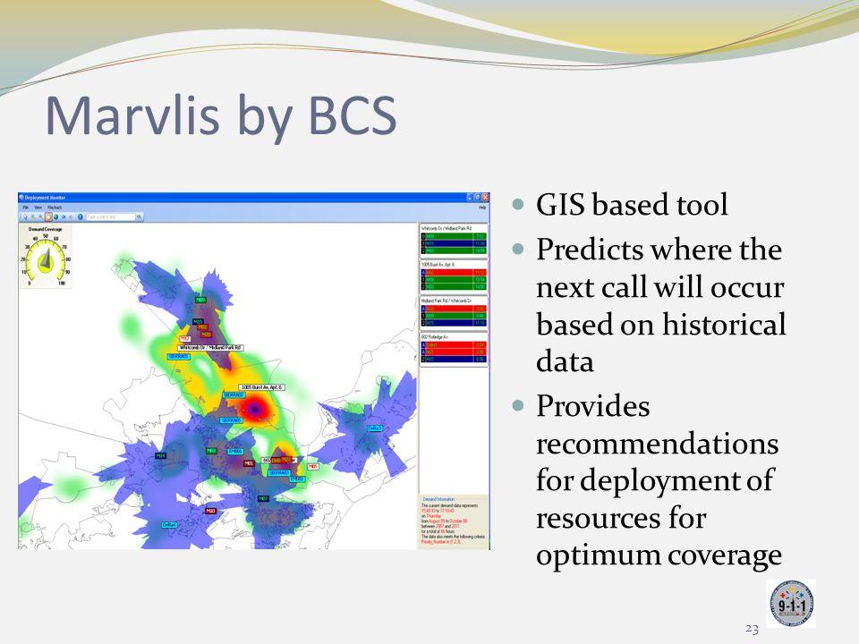 Marvlis by BCS GIS based tool