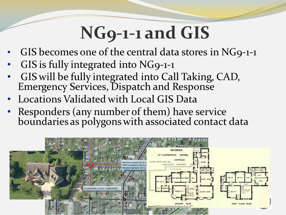 NG9-1-1 and GIS GIS is fully integrated into NG9-1-1