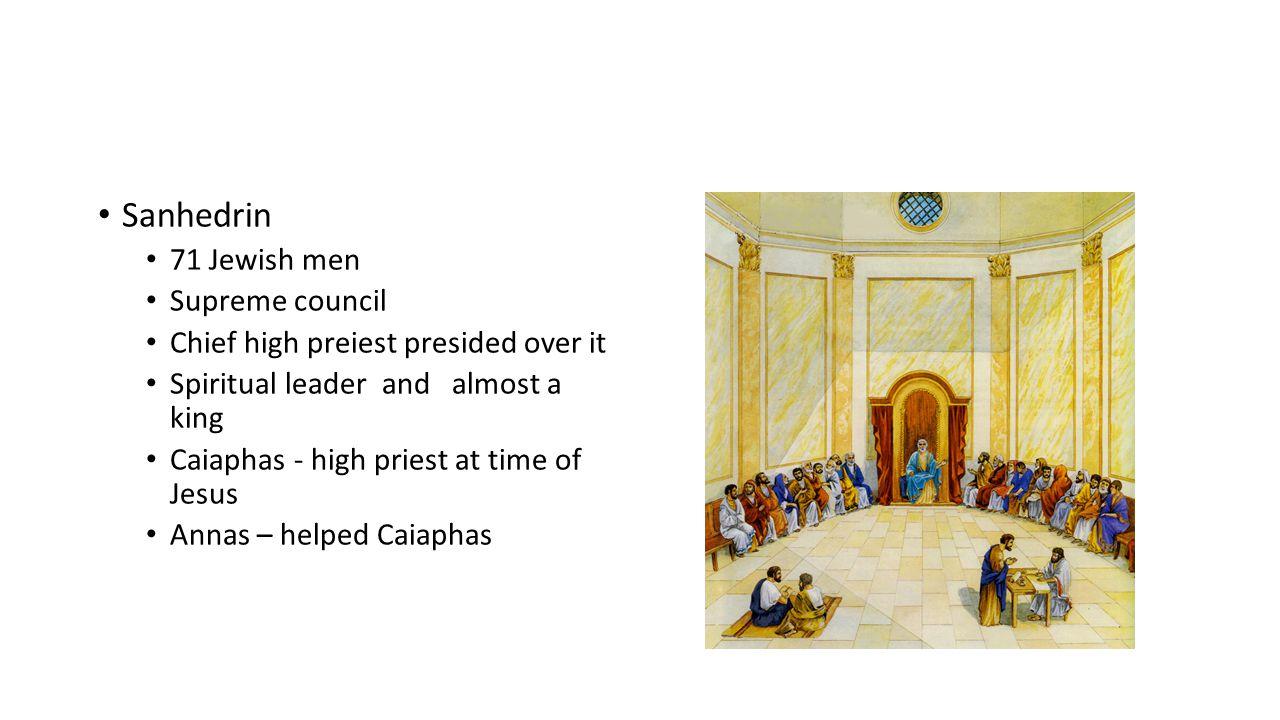 Sanhedrin 71 Jewish men Supreme council