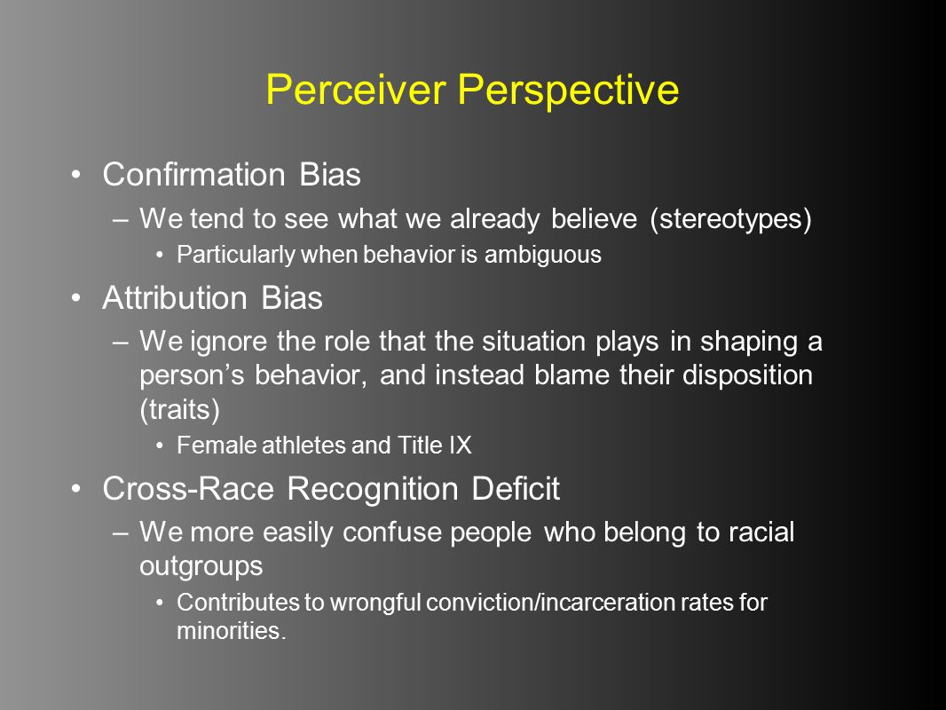 Perceiver Perspective