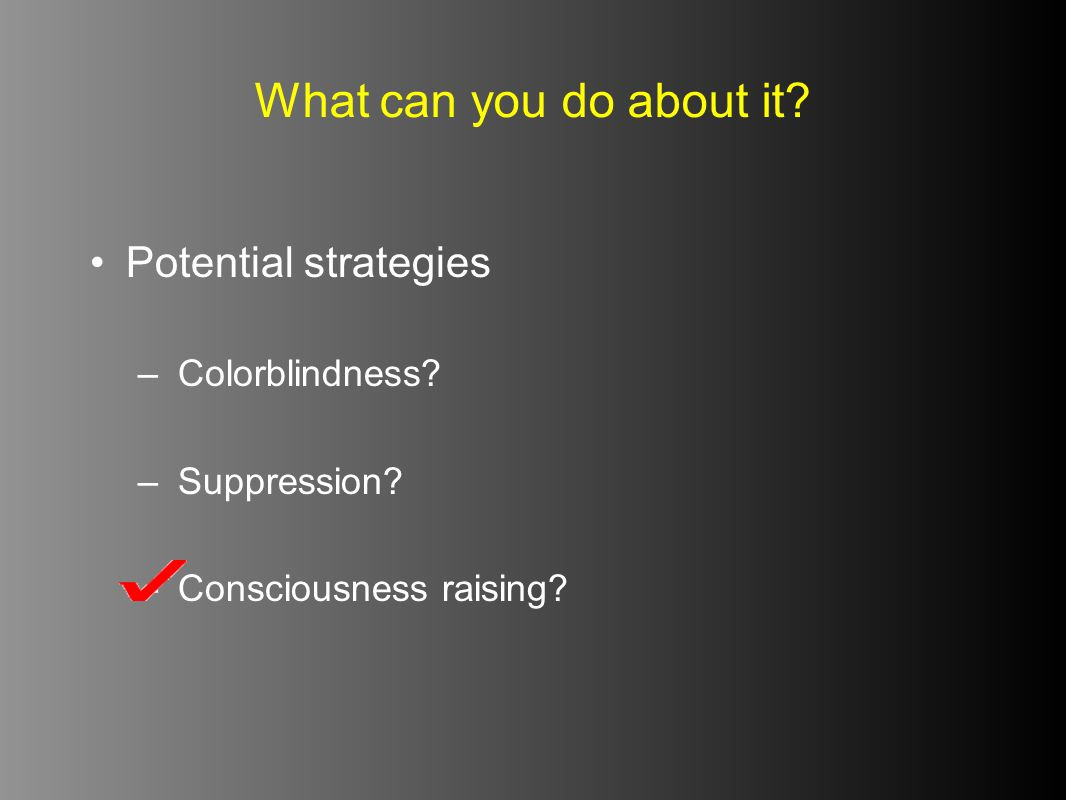 What can you do about it Potential strategies Colorblindness