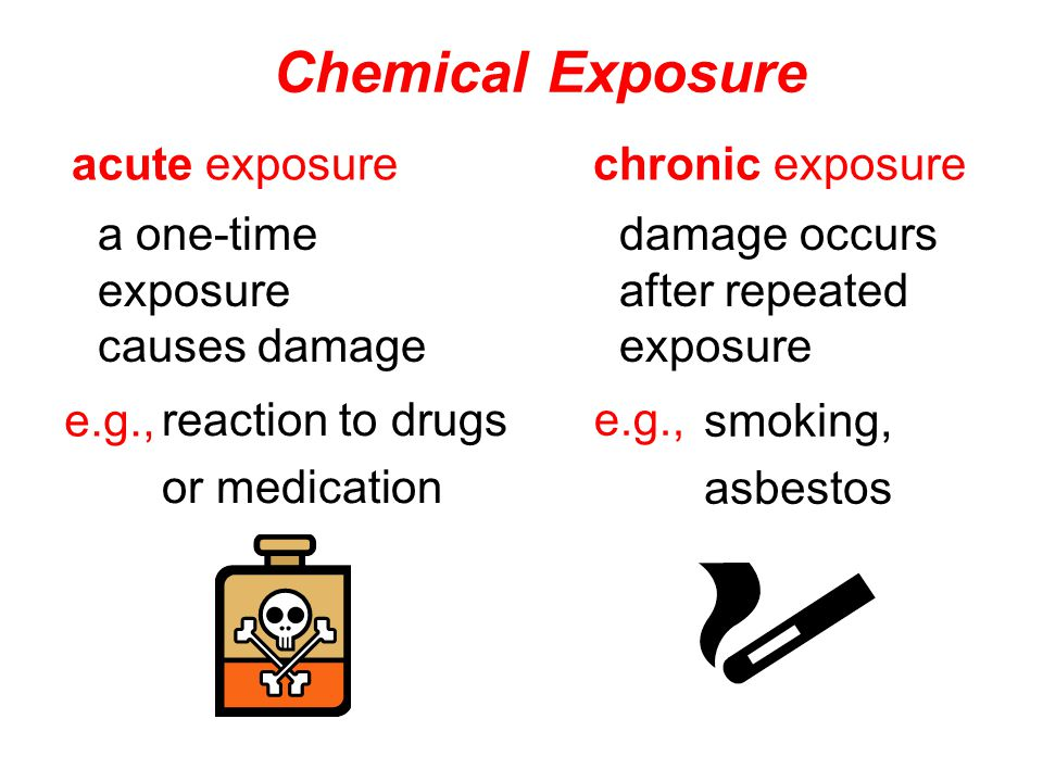 a one-time exposure causes damage