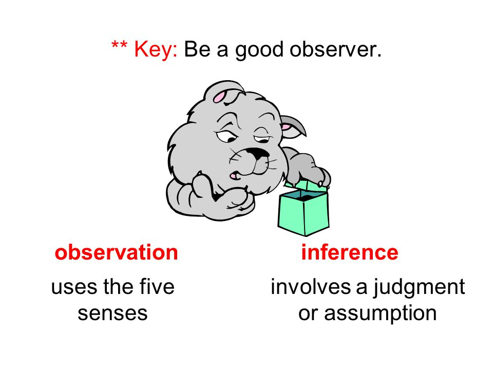 ** Key: Be a good observer.