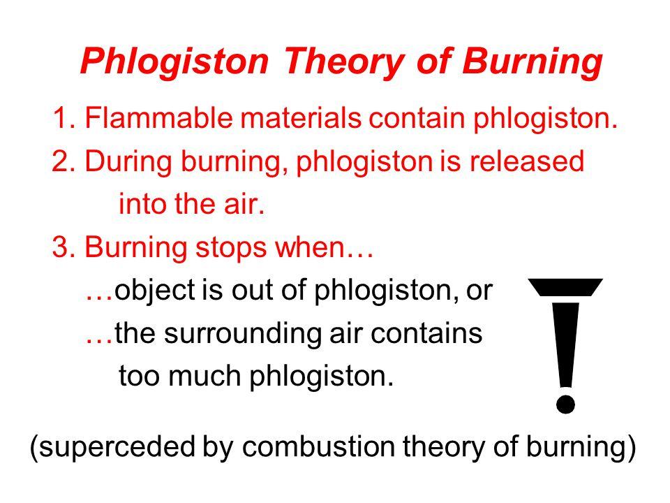Phlogiston Theory of Burning