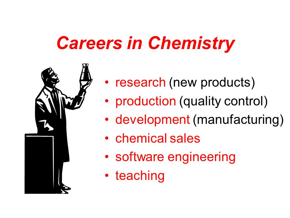 Careers in Chemistry research (new products)