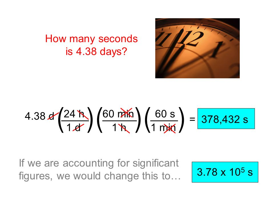 How many seconds is 4.38 days