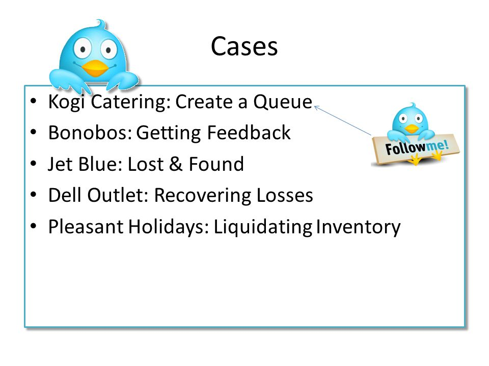 Cases Kogi Catering: Create a Queue Bonobos: Getting Feedback