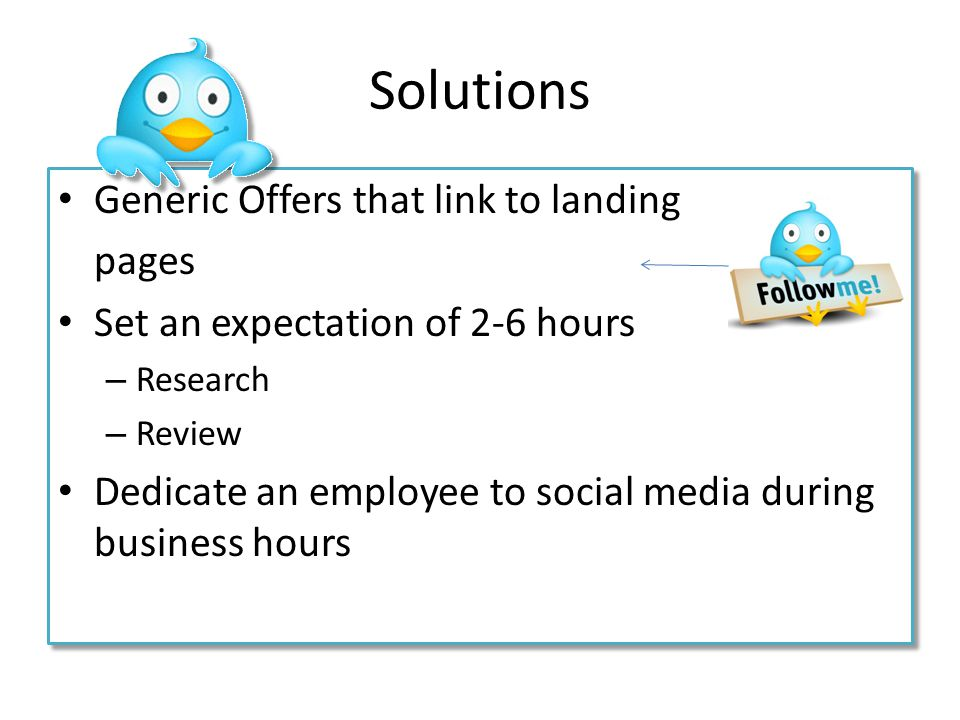 Solutions Generic Offers that link to landing pages
