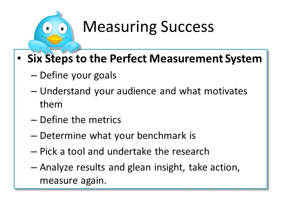 Measuring Success Six Steps to the Perfect Measurement System