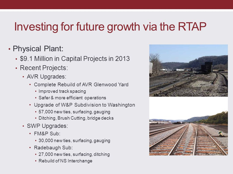 Investing for future growth via the RTAP