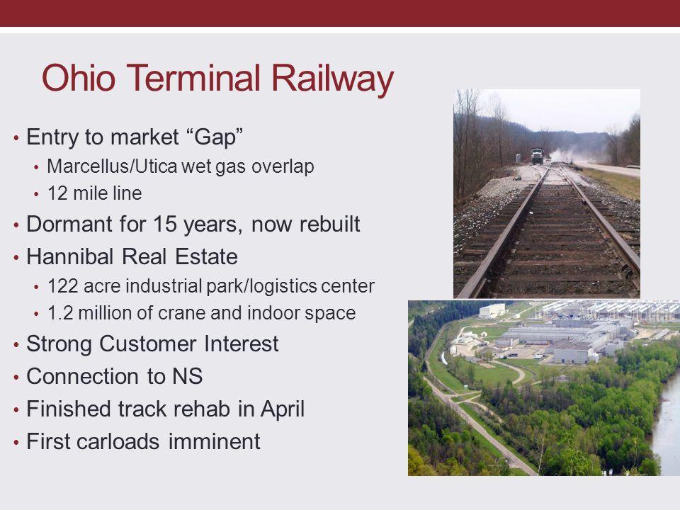 Ohio Terminal Railway Entry to market Gap