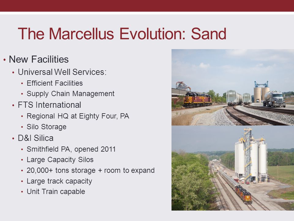 The Marcellus Evolution: Sand