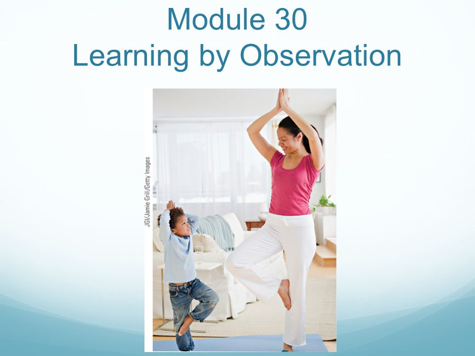 Module 30 Learning by Observation