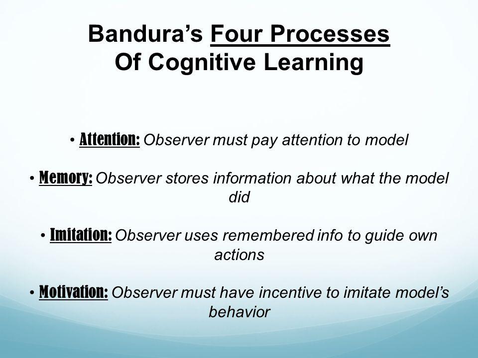 Bandura's Four Processes