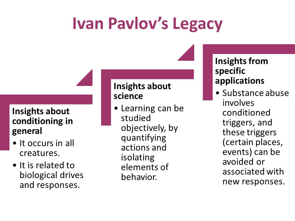 Ivan Pavlov's Legacy Insights about conditioning in general