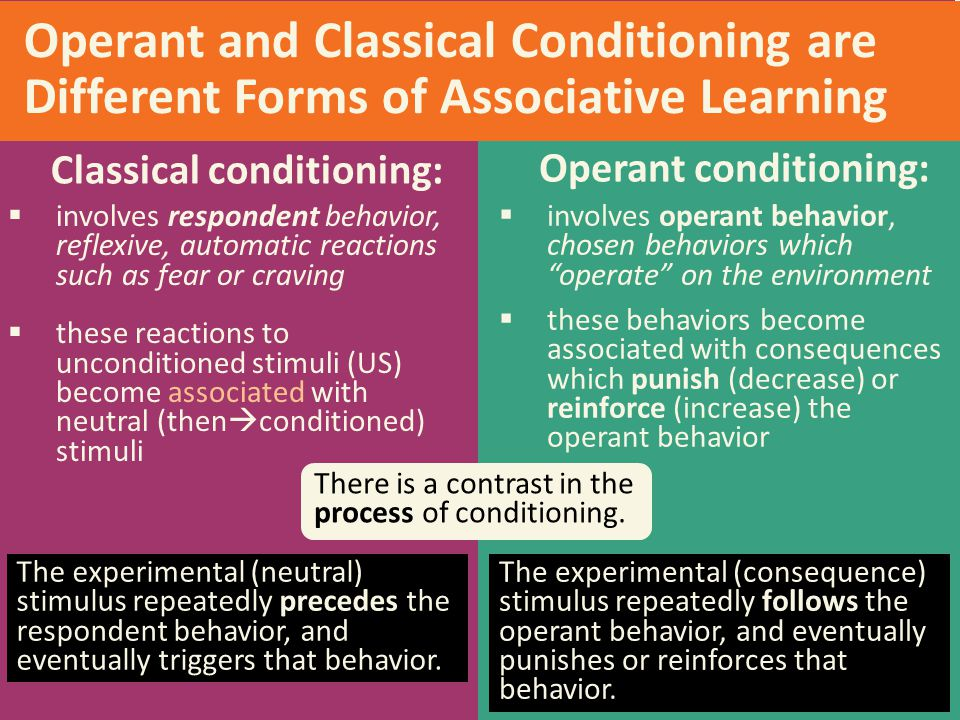 Classical conditioning: