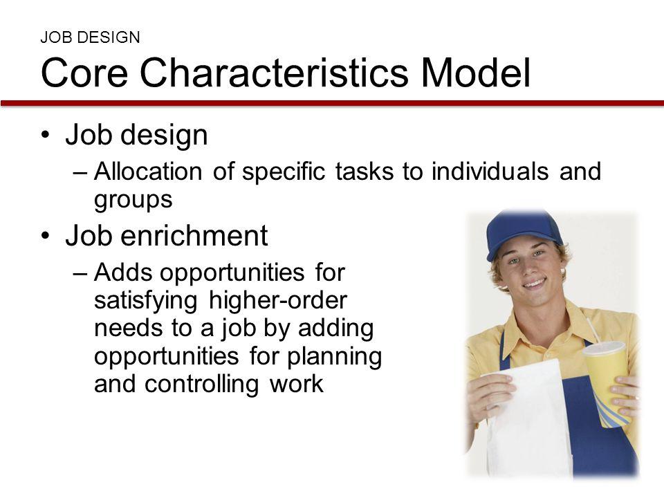 JOB DESIGN Core Characteristics Model