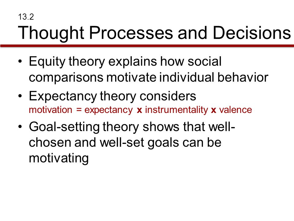 13.2 Thought Processes and Decisions