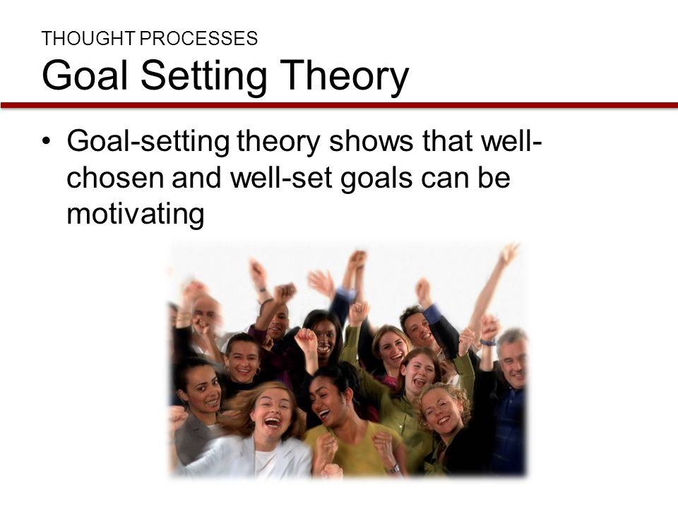 THOUGHT PROCESSES Goal Setting Theory