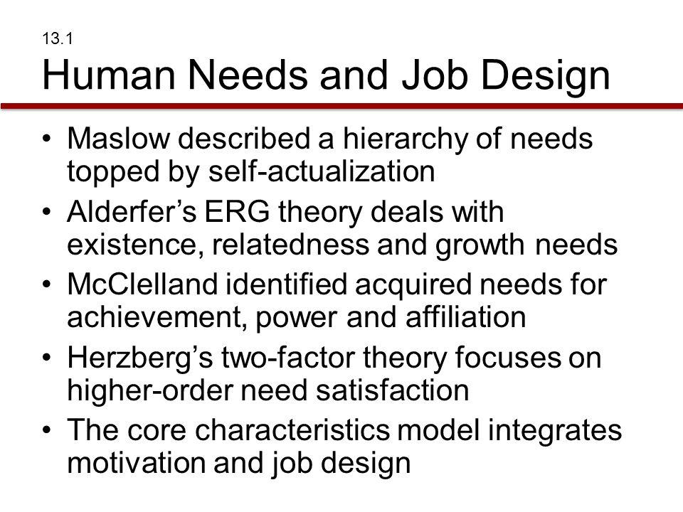 13.1 Human Needs and Job Design