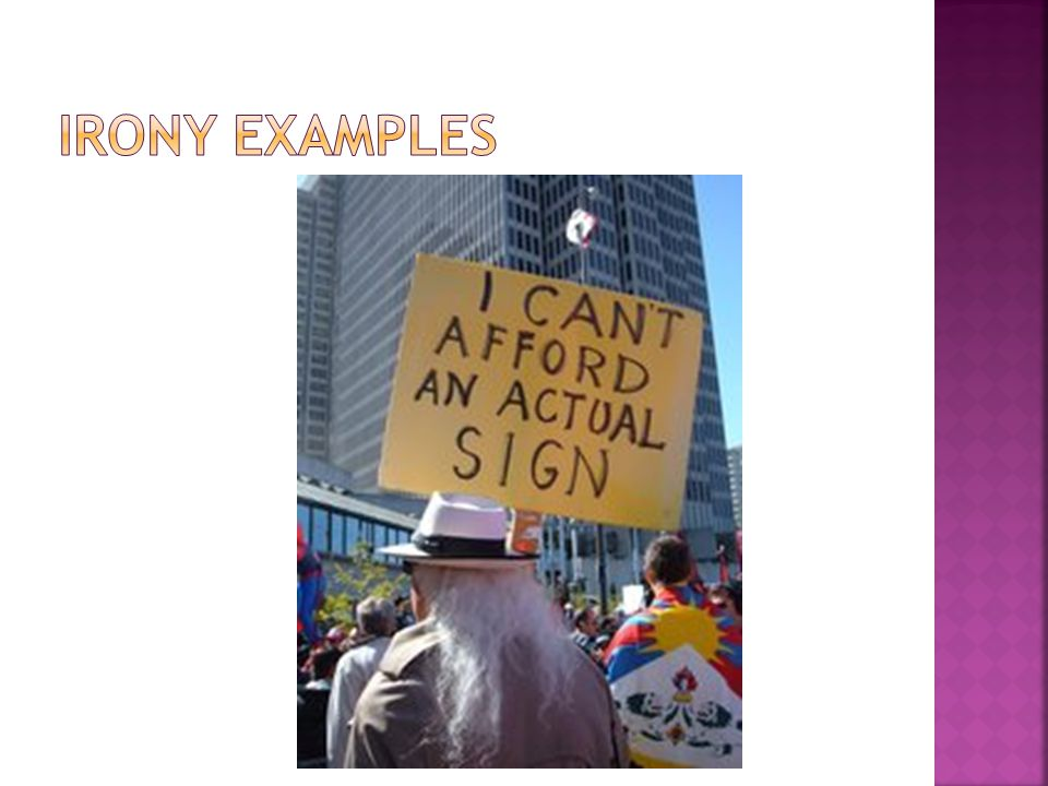 Irony Examples
