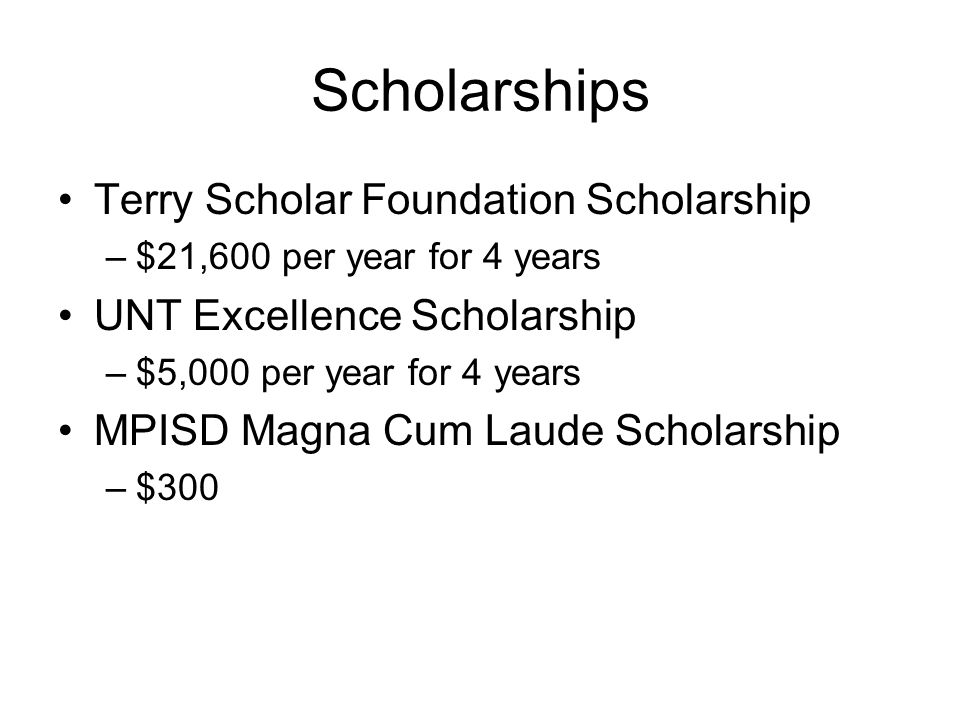 Scholarships Terry Scholar Foundation Scholarship