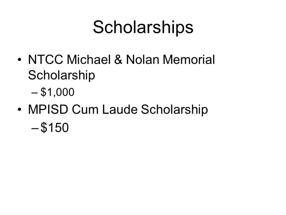 Scholarships NTCC Michael & Nolan Memorial Scholarship