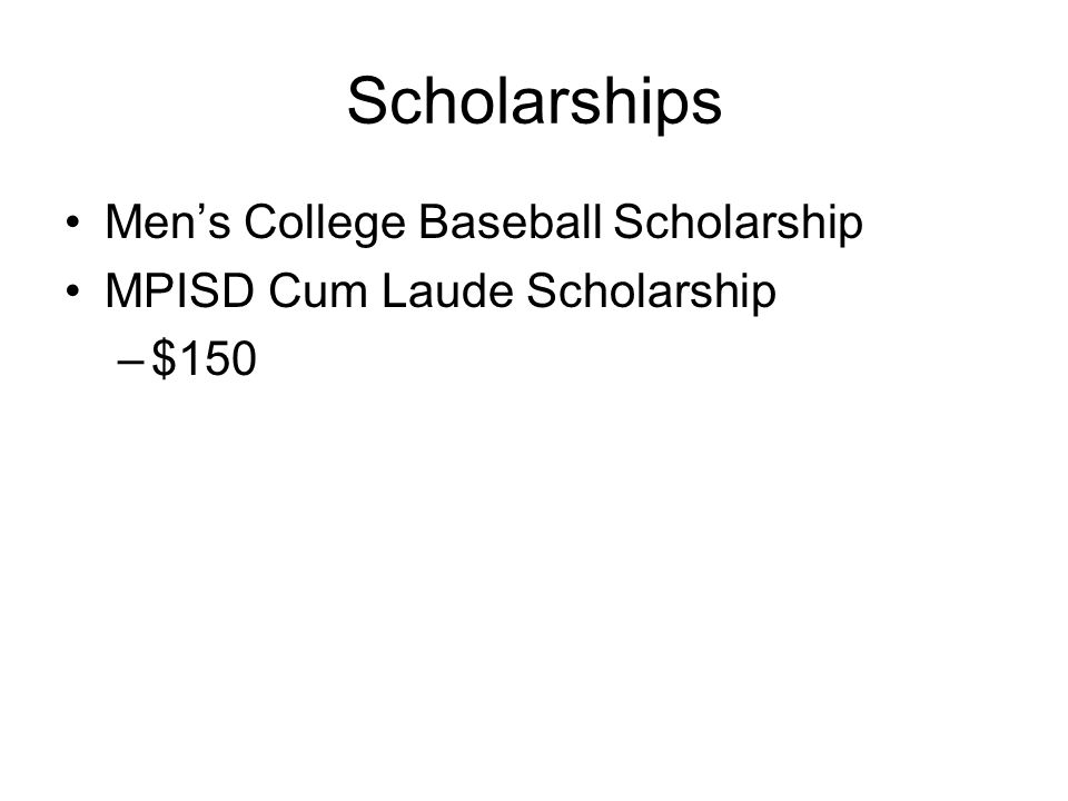 Scholarships Men's College Baseball Scholarship