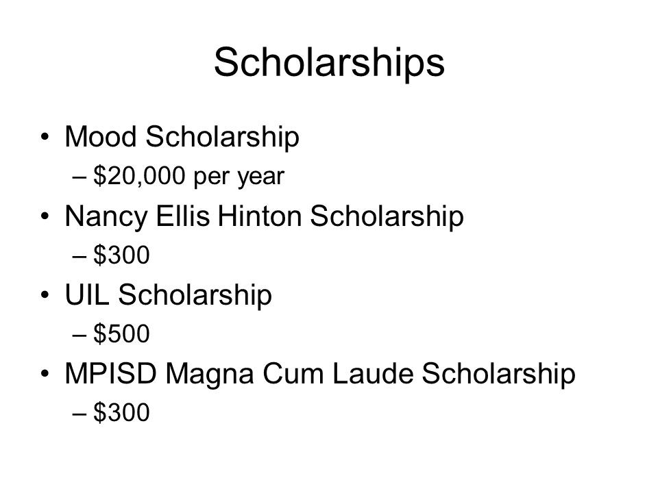 Scholarships Mood Scholarship Nancy Ellis Hinton Scholarship