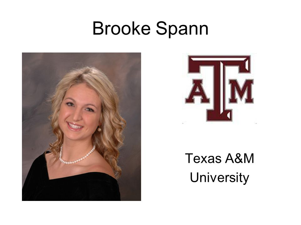 Brooke Spann Texas A&M University