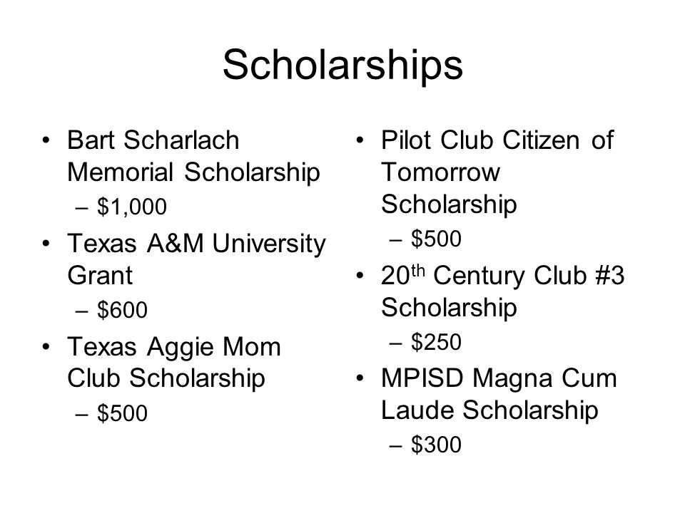 Scholarships Bart Scharlach Memorial Scholarship
