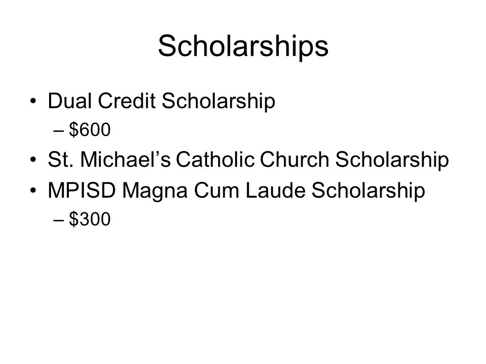 Scholarships Dual Credit Scholarship