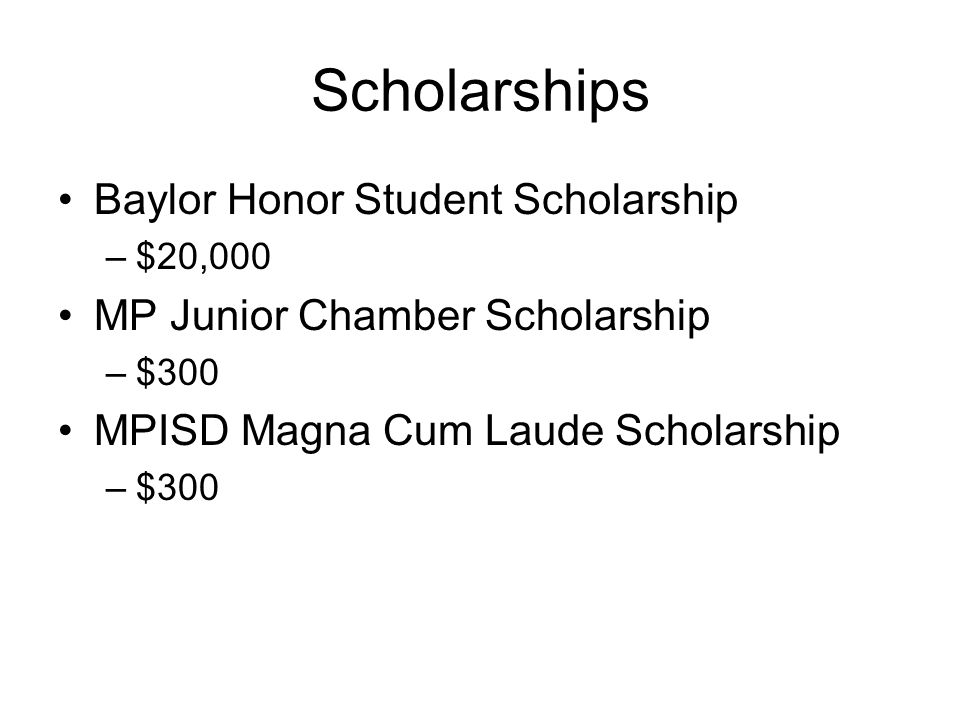 Scholarships Baylor Honor Student Scholarship