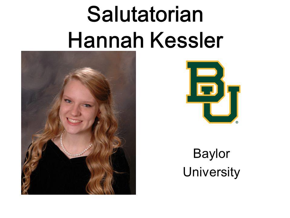 Salutatorian Hannah Kessler