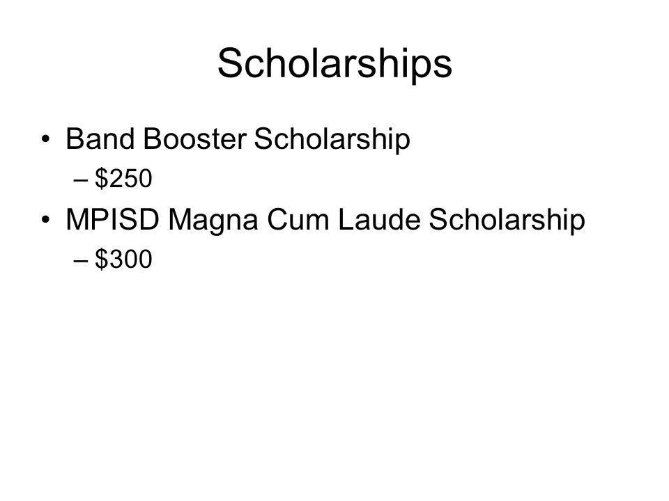 Scholarships Band Booster Scholarship
