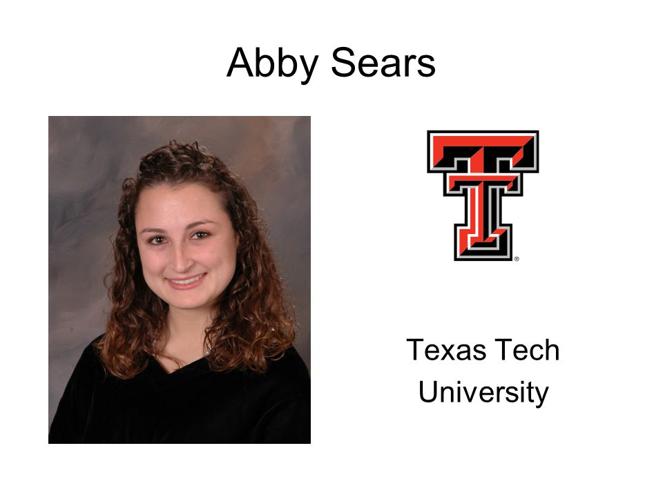 Abby Sears Texas Tech University