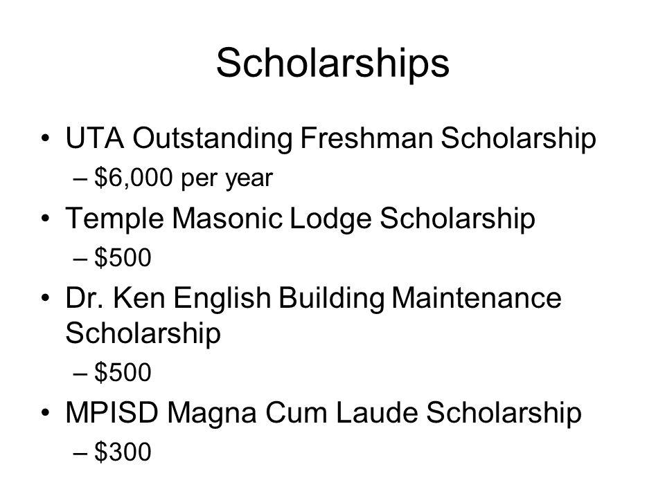 Scholarships UTA Outstanding Freshman Scholarship