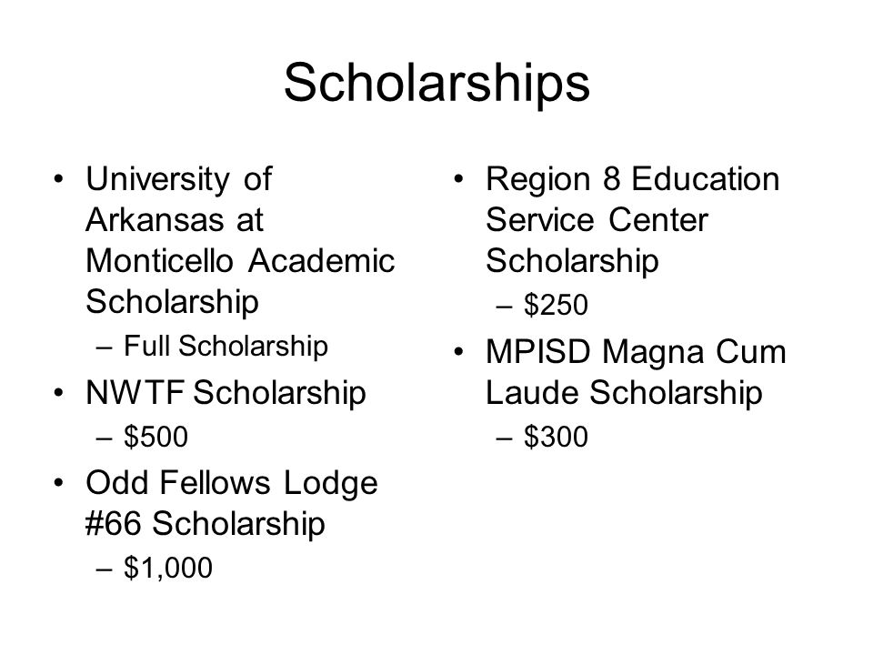 Scholarships University of Arkansas at Monticello Academic Scholarship