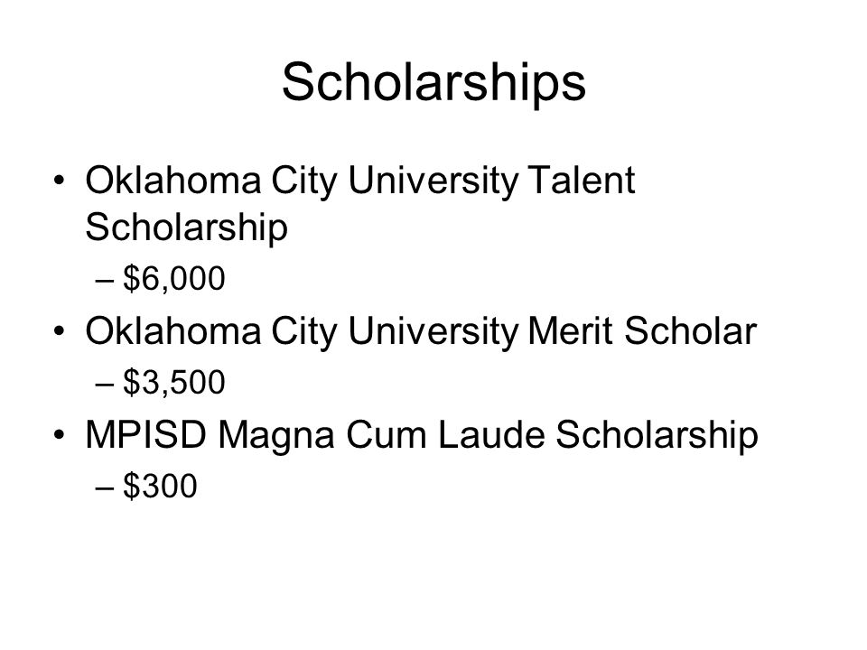 Scholarships Oklahoma City University Talent Scholarship