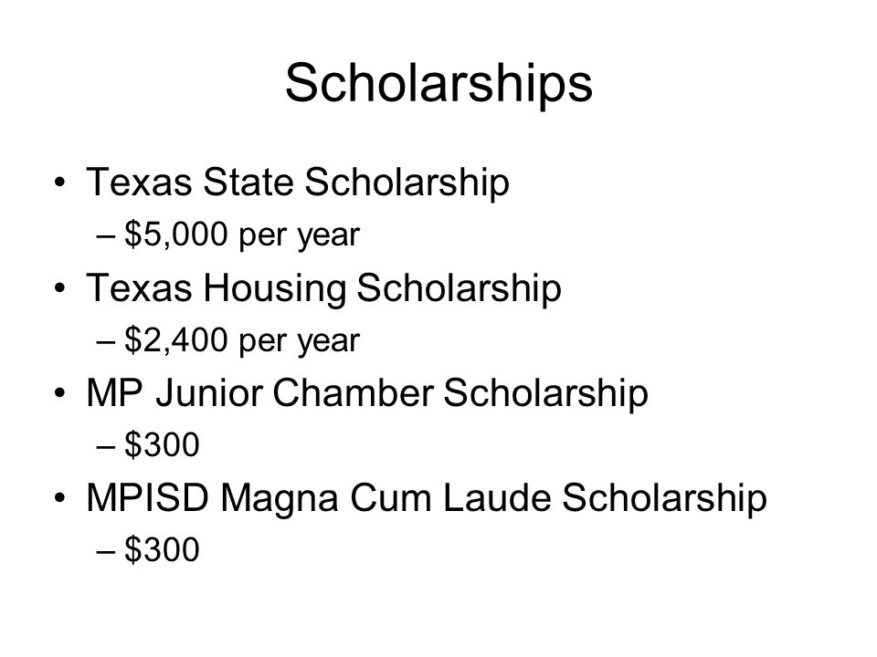 Scholarships Texas State Scholarship Texas Housing Scholarship