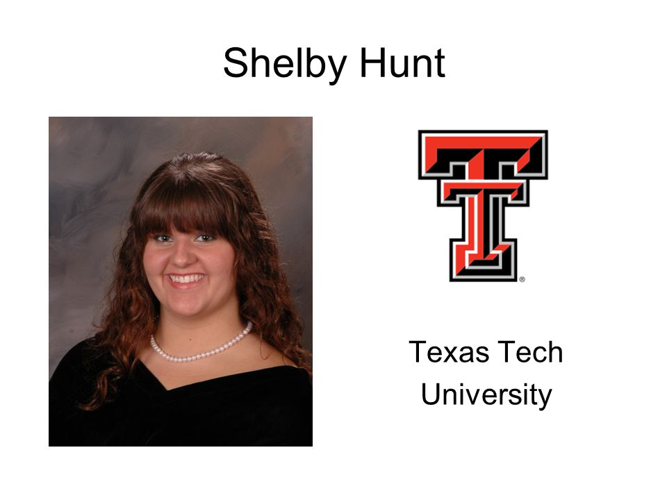 Shelby Hunt Texas Tech University