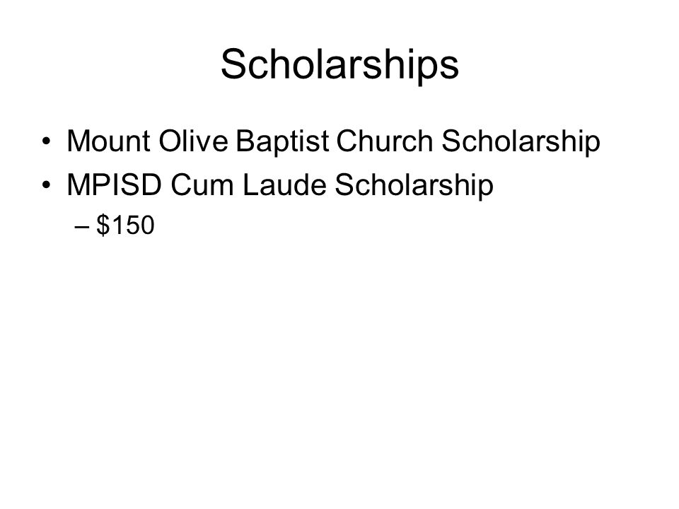 Scholarships Mount Olive Baptist Church Scholarship