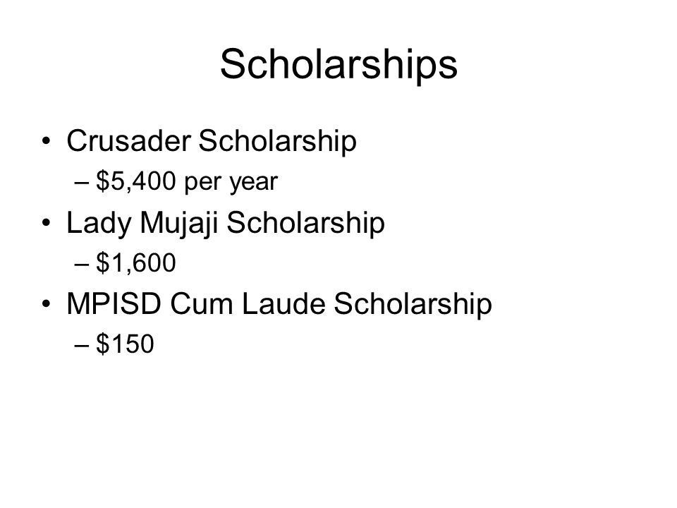 Scholarships Crusader Scholarship Lady Mujaji Scholarship