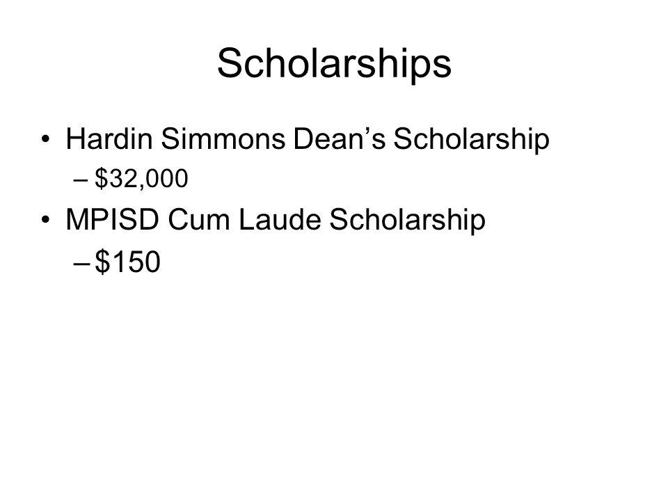Scholarships Hardin Simmons Dean's Scholarship