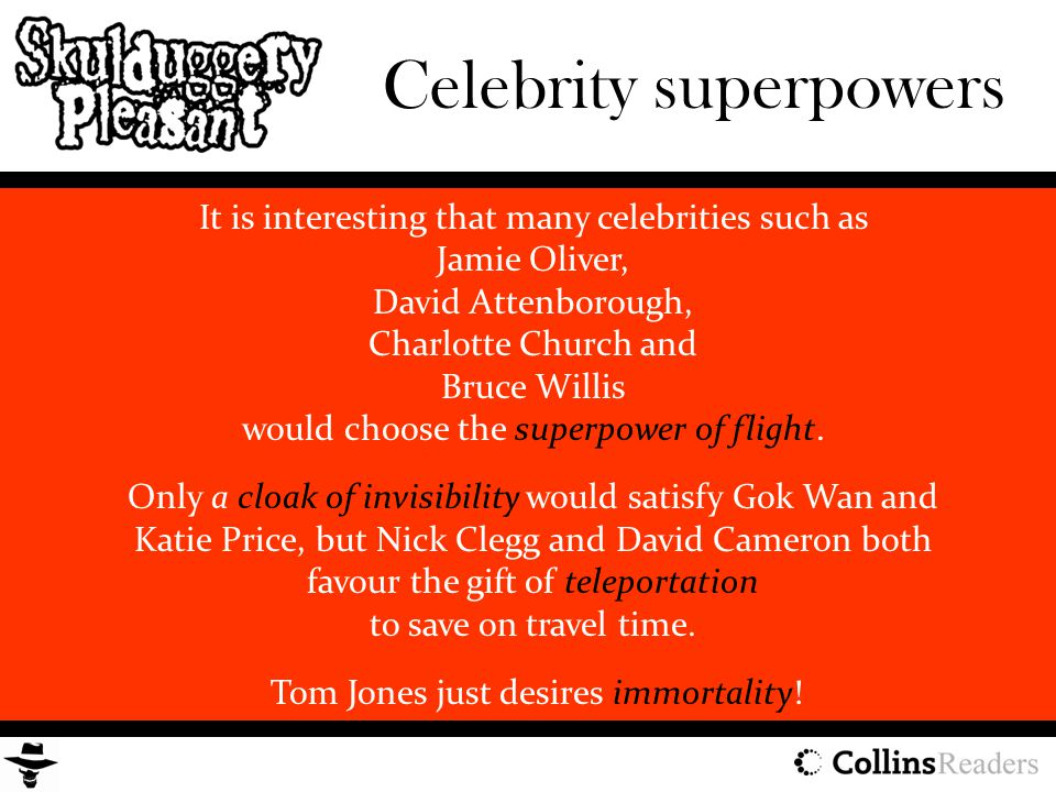 Celebrity superpowers