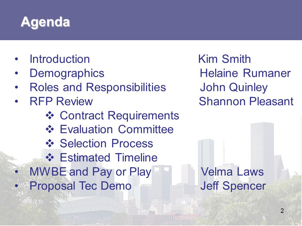 Agenda Introduction Kim Smith Demographics Helaine Rumaner