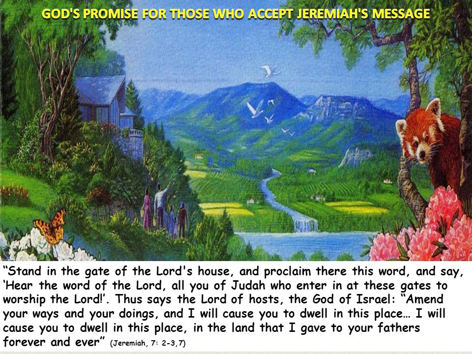 GOD S PROMISE FOR THOSE WHO ACCEPT JEREMIAH S MESSAGE
