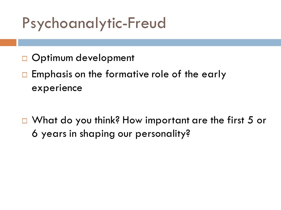 Psychoanalytic-Freud