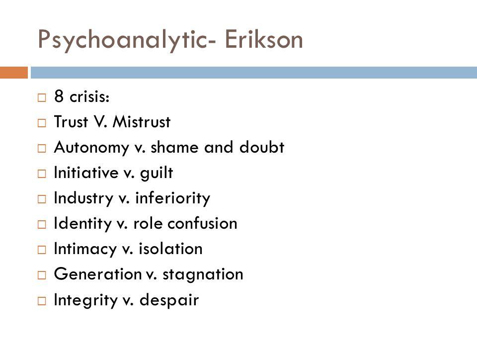 Psychoanalytic- Erikson