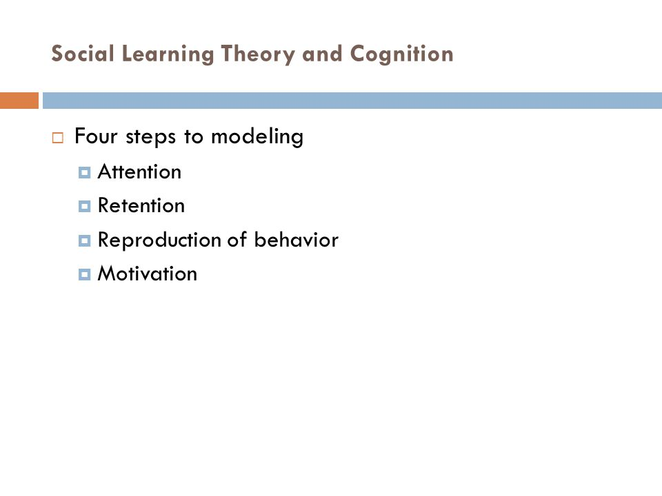 Social Learning Theory and Cognition